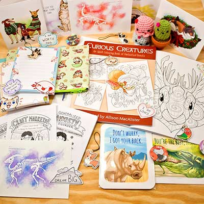 stationary drawing collection