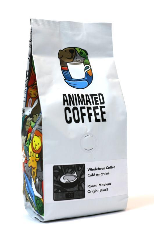 whole bean coffee bag brazil