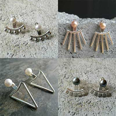 collection of handmade silver jewelry