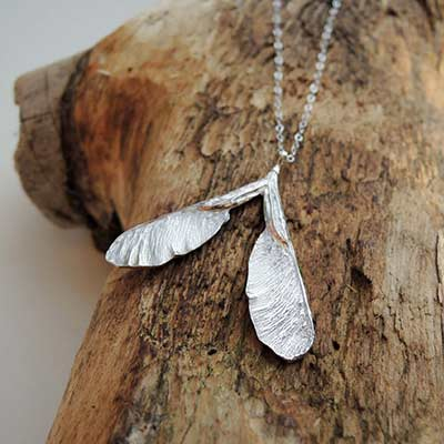 natural silver necklace