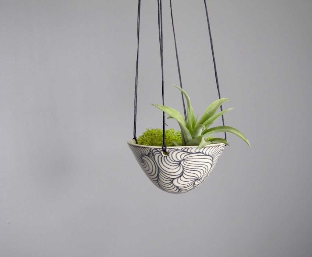 hanging plant handmade pottery