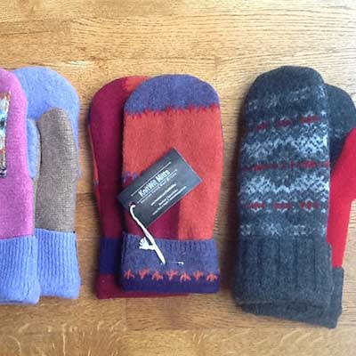 colourful handmade mittens