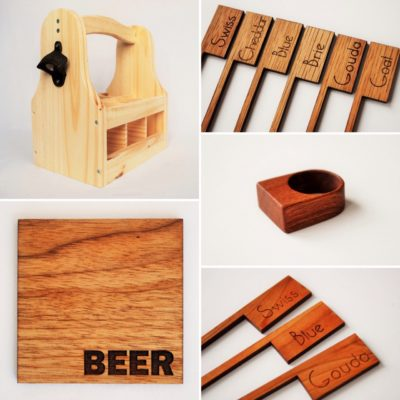 collection of wood accessories