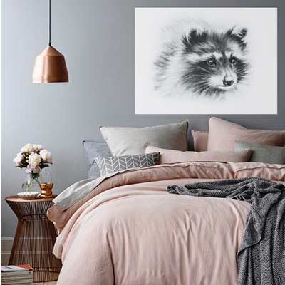 raccoon artwork
