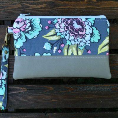 blue and purple handmade purse