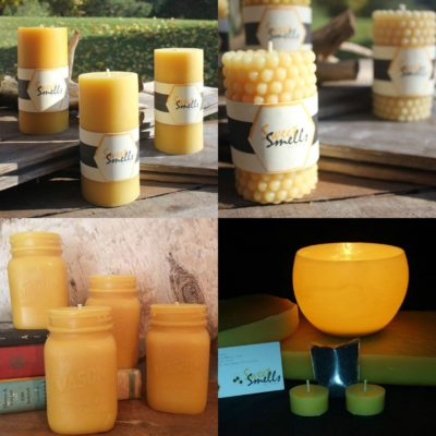 collection of honey candles