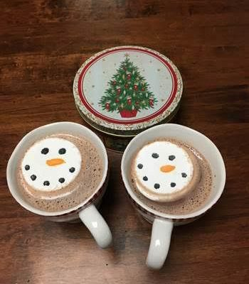 christmas hot chocolate with snowmans