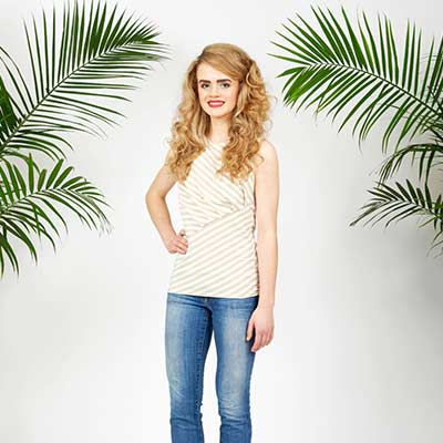 women wearing white top and jeans