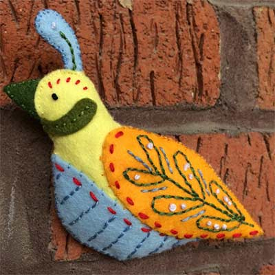 decorative felt bird