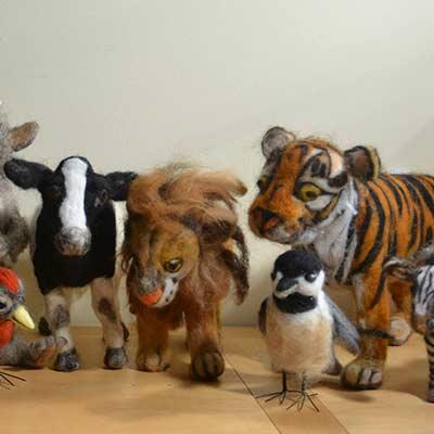 handmade felt animals