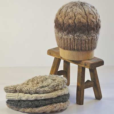 alpaca hand knitted hats