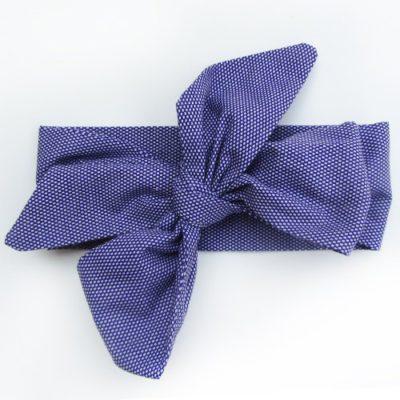 purple polkadot headband