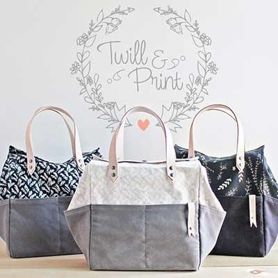 3 handmade bags